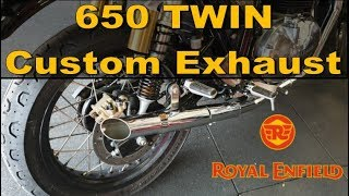 Royal Enfield Continental GT 650 Custom Exhaust vs Factory