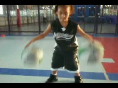 Milan- 5 Year Old Girl Basketball Star- Basketball Training
