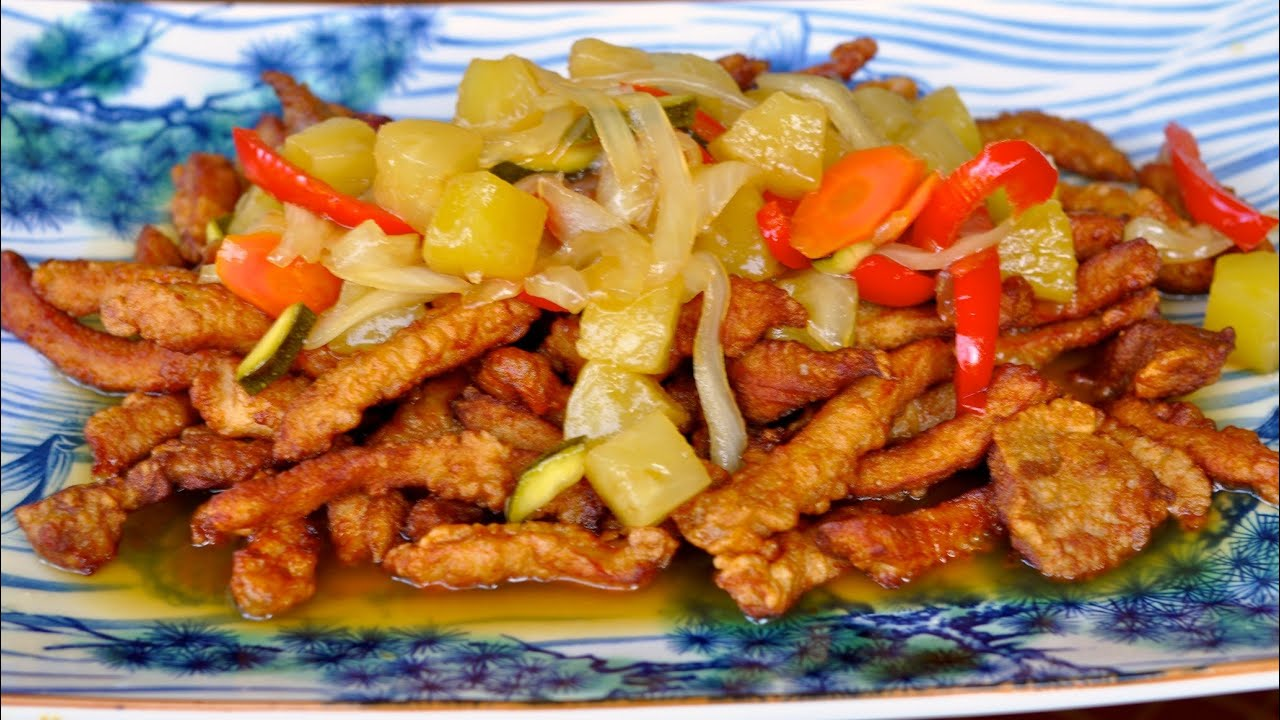Sweet and Sour Pork Recipe / World of Flavor - YouTube