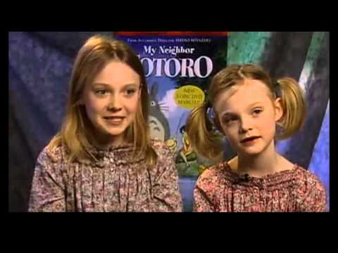 Dakota & Elle Fanning - My Neighbor Totoro - Rare Interview