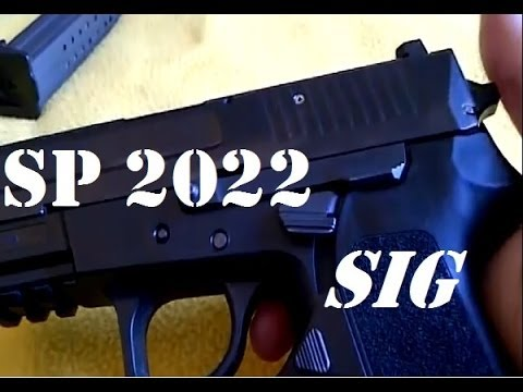 Gun Review: Sig Sauer SP2022 9mm pistol review. safety features. breakdown