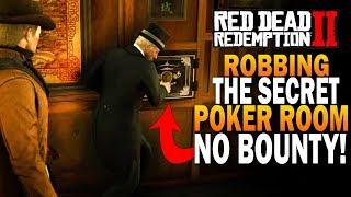 NO BOUNTY! Robbing A Secret Poker Room! Secret Safe! Red Dead Redemption 2 Easy Money [RDR2]
