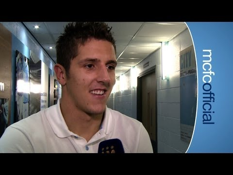 JOVETIC ON GOALS: City v Wigan Stevan Jovetic post match reaction