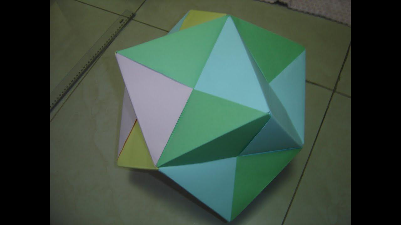 how to make a giant origami dodecahedron o como fazer