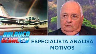 Especialista analisa motivos para aeronave de Gabriel Diniz ter caído