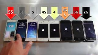 iPhone Modelleri HIZ Testinde: 5S vs 5C vs 5 vs 4S vs 4 vs 3GS vs 3G vs 2G  - Speed Comparison Test