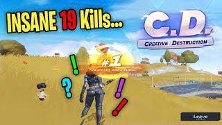 INSANE 19 KILL CREATIVE DESTRUCTION WIN 😈 (Creative Destruction Gameplay)