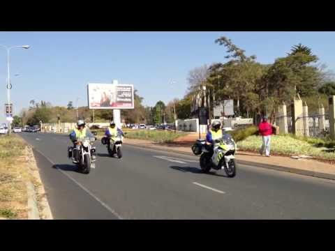 President Obama South Africa June 2013 - Presidential Convoy Leaving St Davids