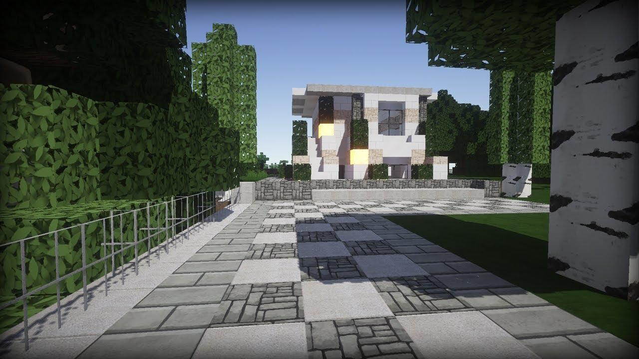 Modernes haus in minecraft minecraft tutorial youtube for Minecraft modernes haus