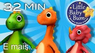 Dez Pequenos Dinossauros | E muitas mais Canções de Ninar | LittleBabyBum!