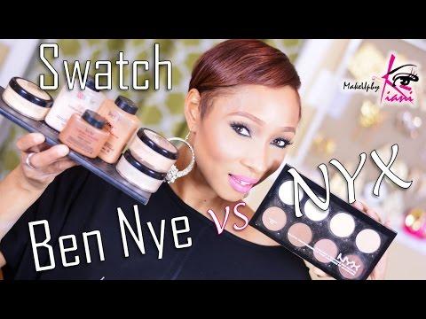 Ben Nye VS NYX Swatch Review