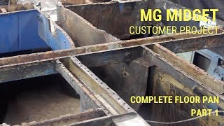 MG Midget Complete Floor Pan Replacement - Part 1