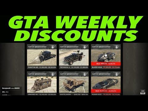 GTA 5 ONLINE Weekly Discounts! (More Big Sales!)