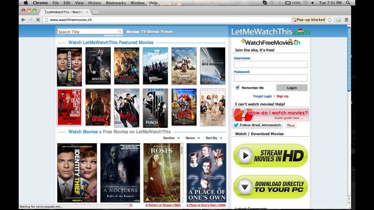Free movie websites no download
