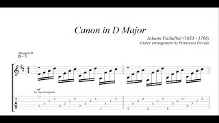 Classical Guitar Johann Pachelbel Canon In D Major