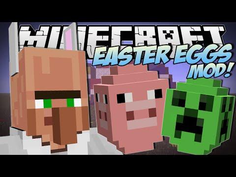 Minecraft | EASTER EGGS MOD (Lucky Egg Hunt!) | Mod Showcase