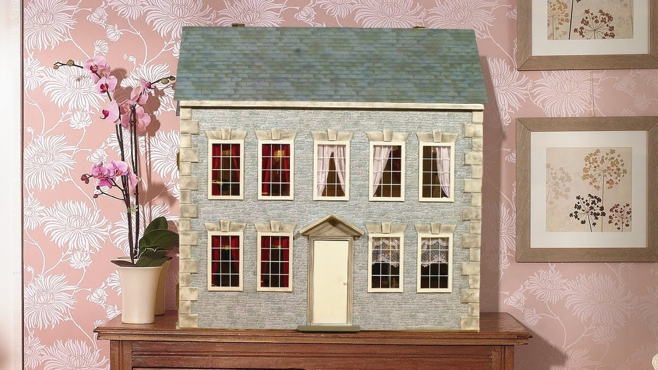 How to re decorate the outside of your dolls house youtube for Outer decoration of house