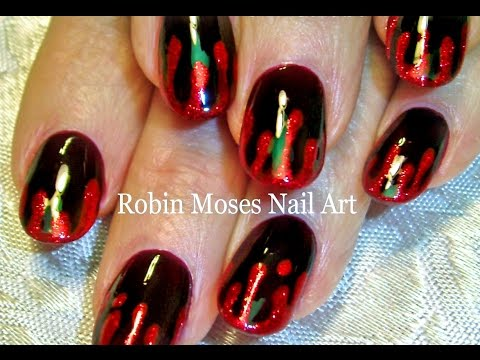 Nail Art Tutorials | DIY EASY Halloween nail art | Blood Splatter nails