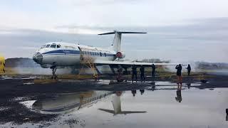 Учения ФСБ с освобождением заложников самолета в Калининграде