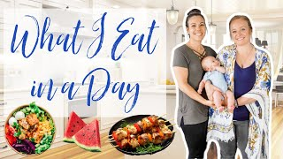 Healthy What I Eat in a Day While Breastfeeding ||Postpartum Weight Loss