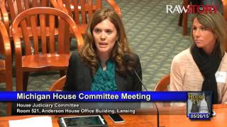 Ginnifer Hency testifies about Michigan civil asset forfeiture