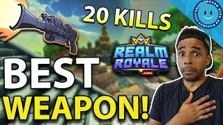 REALM ROYALE: BEST WEAPON? HUNTER Legendary SLUG RIFLE - 20 KILL GAME! (Realm Royale)