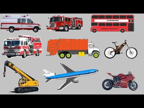 Learning Street Vehicles Names and Sounds for kids | Cars And Heavy Vehicles Video for Children