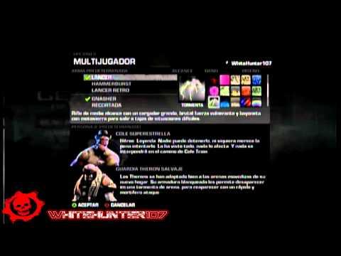 Gears of War 3 Todos los Skins de Armas [DLC] y Desbloqueables