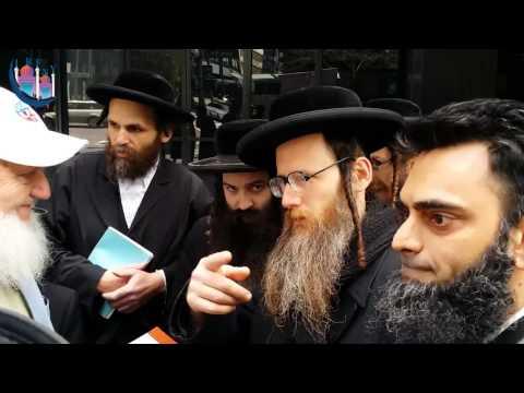 Yusuf Estes Dovid Weiss Ammaar Saeed Jewish Protest Zionist Supporting Gaza Palestine New York City