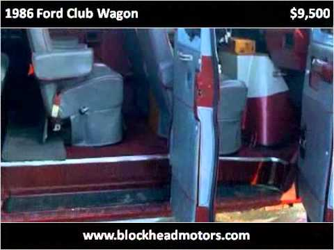 1986 Ford Club Wagon Used Cars Scottsburg IN