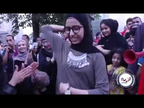 بنت بترقص شعبى جامد فشخ بعد صلاه العيد بميدان مصطفى محمود 2016 thumbnail