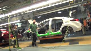 2015 Hyundai Sonata driven off the production line at Hyundai Manufacturing Motor Alabama