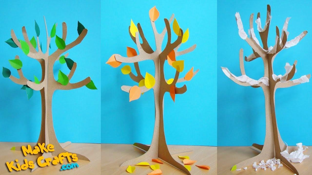 Как сделать бумажное дерево для детей 74