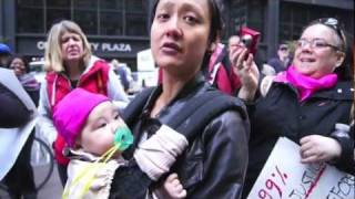 Families take to Occupy Wall Street in New York