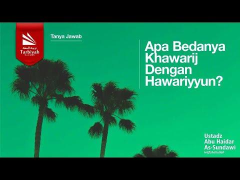 Tanya Jawab | Apa Bedanya Khawarij Dengan Hawariyyun? - Ustadz Abu Haidar As Sundawy