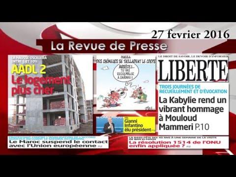 KSARI WebTV - La Revue de Presse du 27 fevrier 2016