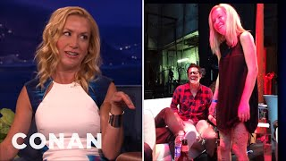Angela Kinsey: Johnny Knoxville Loves To Harass Me