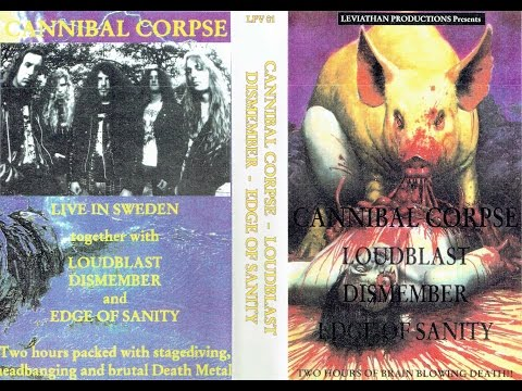 Edge Of Sanity, Dismember, Loudblast & Cannibal Corpse - Live Jukebox, Norrköping, Sweden 11-10-1991