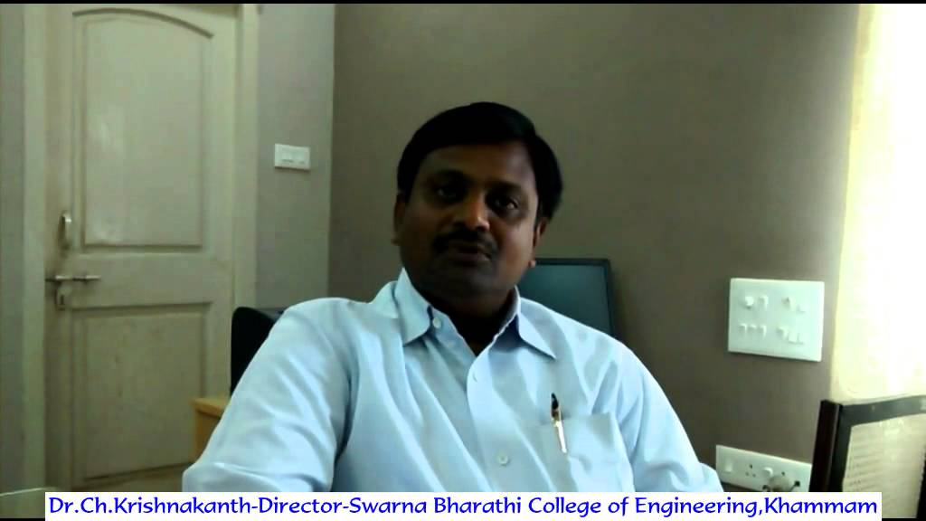 Dr Ch Krishnakanth-Director-Swarna Bharathi College of Engineering ...