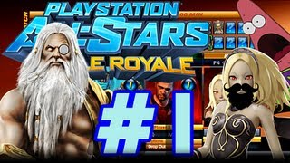 Vash, Rexx, And Brayn Play Playstation Allstars W/ Commentary P.1 - Get STUFFED!