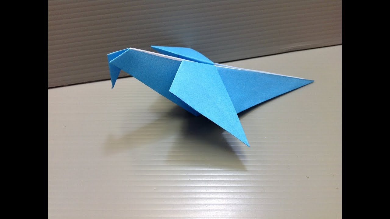 daily origami 138 fluttering pigeon youtube