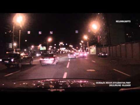 ДТП 02.05.2013 01-18-57 Москва поворот с трешки на Шереметьевскую