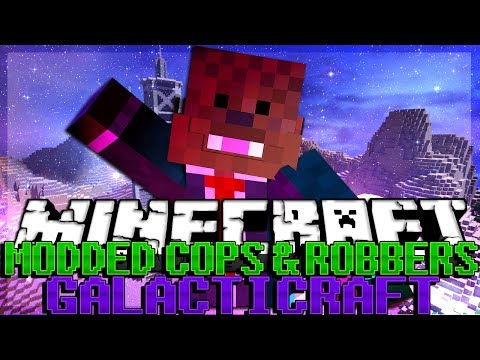 GOING TO THE MOON Minecraft Galacticraft Modded Cops and Robbers