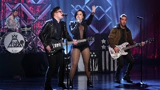 Demi Lovato & Fall Out Boy Perform