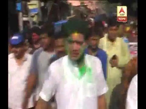 Former cricketer and Trinamul Congress candidate Laxmiratan Shukla embarks in poll rally o