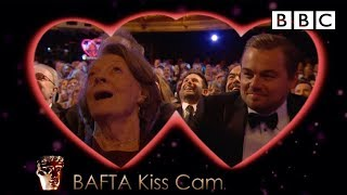 Leonardo DiCaprio and Dame Maggie Smith on Kiss Cam - The British Academy Film Awards 2016 - BBC One