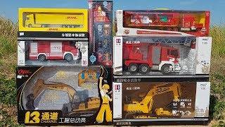 Car For Kids, Toys Review Unboxing Fire Truck Excavator Car Transporter Toys For Children