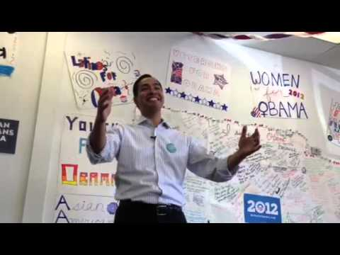 Julian Castro in Las Vegas Obama Office pt 1