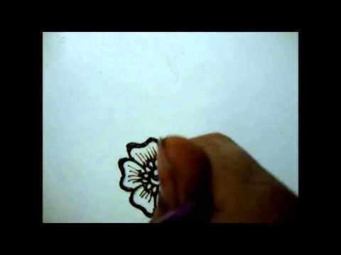 How to draw Floral Henna design