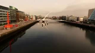 The Liffey by drone